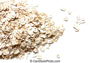 Oats in a heap isolated on white