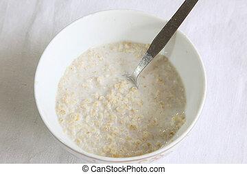Oats in milk