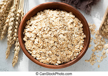 Oats or Oat Flakes in bowl