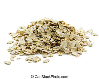 Oats - Pile of oats isolated on a white background