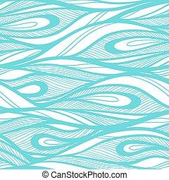 oavgjord, abstrakt, hand, bakgrund., vågor