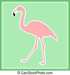 oavgjord, hand, rosa flamingo