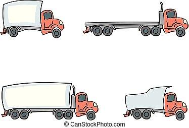 oavgjord, lastbilar