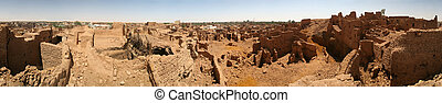 Oazis city Mut - 360 degrees - Old part of the biggest city...