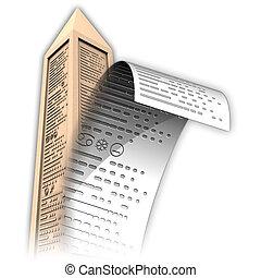 obélisque, papertext