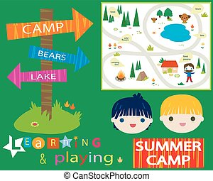 obóz, lato