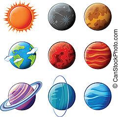 oběžnice, sluneční soustava