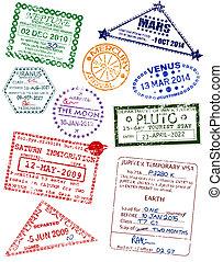oběžnice, vízum