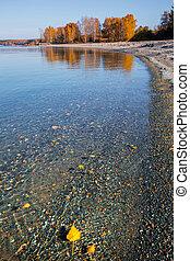 Ob reservoir. Western Siberia - Ob reservoir, Berd water ...