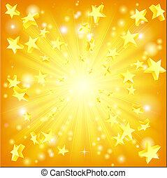 obalając, gwiazdy, tło