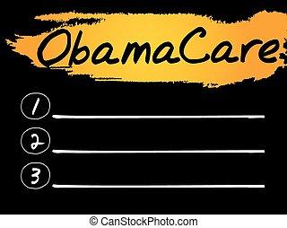 Obama Care blank list