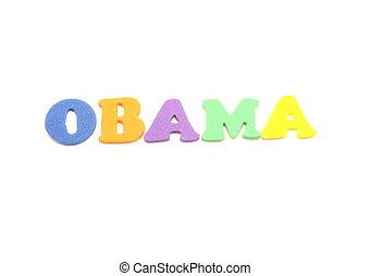 Obama Foam Letters