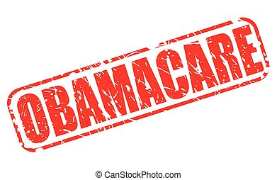 OBAMACARE red stamp text on white