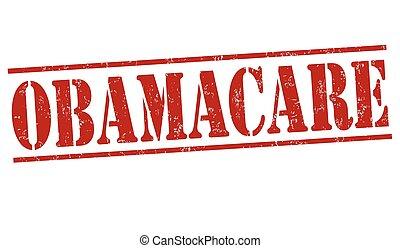 Obamacare grunge rubber stamp on white background, vector illustration
