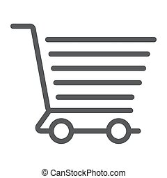 obchod, sklad, e, lineární, strava, model, eps, kára, firma, ikona, vektor, grafika, 10., řádka, prodávat v malém shopping, běloba grafické pozadí