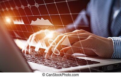 obchodník, díla, finanční machinace, data