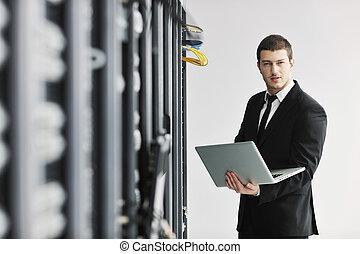 obchodník, místo, síť, počítač na klín, kam vítr, tam plášť