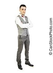 obchodník, neposkvrněný, mládě, grafické pozadí