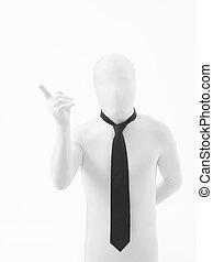obchodník, s, pozornost, gesto