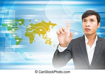 obchodník, touchscreen