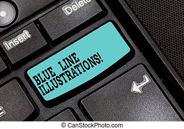 obecność, fotografia, komputerowa klawiatura, wiadomość, ufność, błękitny, inwestując, tworzyć, pisanie, intention, online, konceptualny, handlowy, pokaz, ręka, klucz, kreska, gmach, idea., tekst, illustrations.