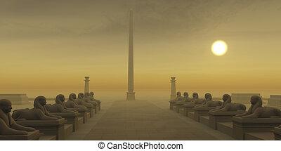 obelisco, egipcio