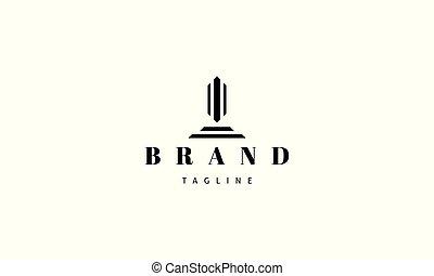 obelisk., image, logo, résumé, vecteur