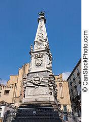 obelisk, immacolata, neapel