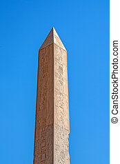 Obelisk in the ruins of Karnak temple