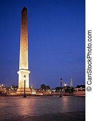 Obelisk of Luxor, Paris, France.