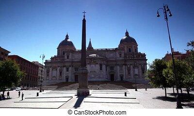 Obelisk of Santa Maria Maggiore Basilica in Rome, shown in...