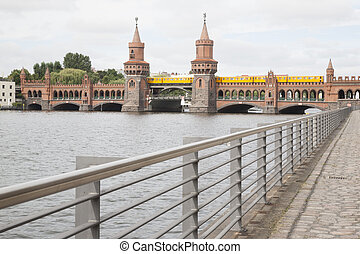 Oberbaumbrucke Bridge on River Spree, Berlin
