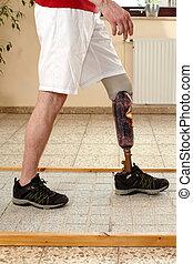 oberflächen, training, verschieden, prothese, wearer