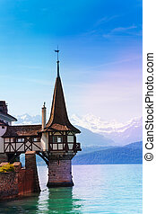 Oberhofen's castle lake tower
