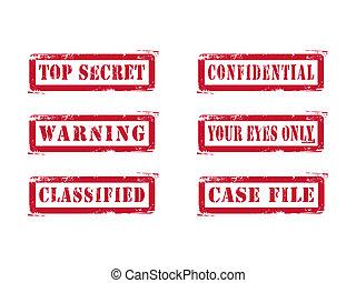 oberseite, briefmarken, grungy, geheimnis