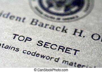 oberseite, dokument, geheimnis