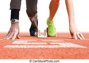 oberseite, sport, geschaeftswelt