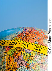 Obese Planet - The concept of today\\\'s world wide obesity.