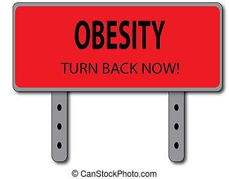 obesidad, concepto, señal