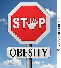obesidad, parada