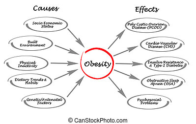 obesity:, causas, efectos
