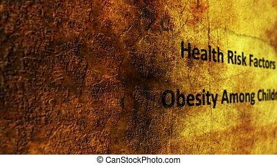Obesity grunge concept
