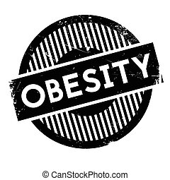 Obesity rubber stamp. Grunge design with dust scratches....
