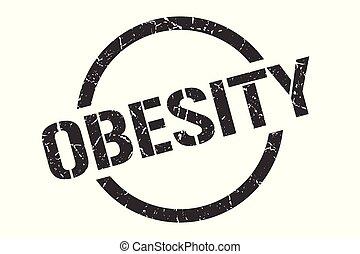 obesity stamp - obesity black round stamp