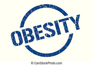 obesity stamp - obesity blue round stamp