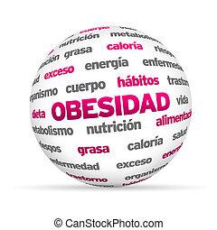 obesty, palabra, esfera, (in, spanish)