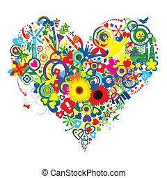 obfity, radość, i, miłość