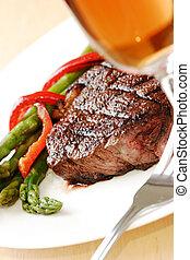 obiad, stek