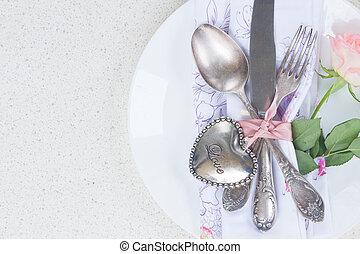 obiad, valentines dzień