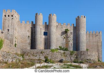 Obidos castle, Estremadura, Portugal, Europe. - Castle in ...